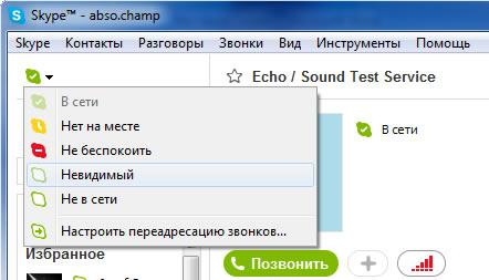 Скайп Статусы  - Информация о контактах