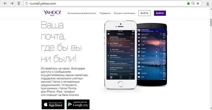 Yahoo почта вход