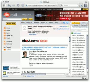 aim mail бесплатная электронная почта