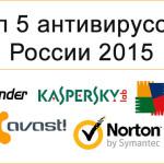 Антивирус. Топ 5 антивирусов в России 2015